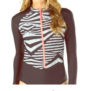 Speedo sleeve swimsuit w/ UV protection